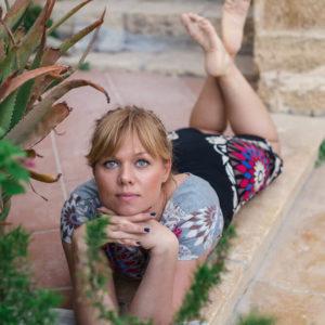 Tijana Kondic lying on the floow